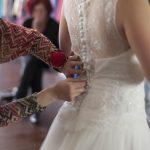 Essayage de la robe de mariée Boutique de mariage Corrèze